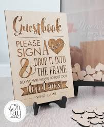 heart guest book guestbook guest book frame with 120 wooden hearts oh yay achor