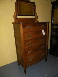 Bedroom Dresser With Mirror by Antique Oak Bedroom Dresser Chest Of Drawers With Mirror Quaint