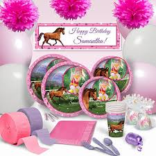 Personalized Party Decorations Our Hooray For Horses Party Supplies Feature A Majestic Brown