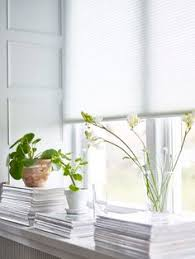 Ikea Matchstick Blinds White Ikea Merete Curtains And Bamboo Shades Add A Light Airy