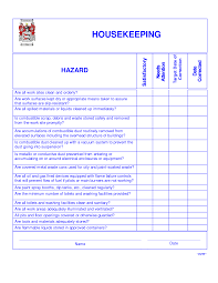 House Cleaning List Template Housekeeping Checklist Form Universalcouncil Info
