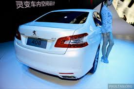 new peugeot sedan new peugeot 408 sedan unveiled at auto china 2014 image 244064