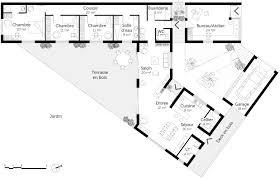 plan de maison en v plain pied 4 chambres plan de maison plain pied 5 chambres 3 plan maison moderne en v