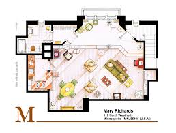 golden girls floorplan mary richards apt from the mary tyler moore show by nikneuk on