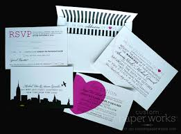 wedding invitations new york i heart ny themed wedding custom paper works
