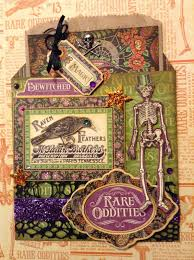 fotobella g45 rare oddities halloween gift card bag tutorial