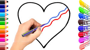 heart coloring page for children youtube
