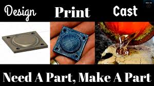 designing 3d printing and metal casting a replacement part for a