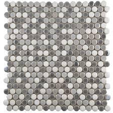 merola tile galaxy penny round luna 11 1 4 in x 11 3 4 in x 9 mm