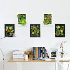 cactus home decor 3d creative metope succulent plants artificial cactus imitation wood