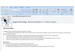 Sample Email Message With Attached Resume by Send Email Post Jobs Get Free Cvs