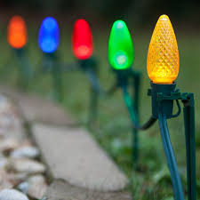 outdoor led lights multicolor pathway swag