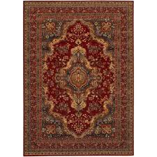Persian Rug Mouse Mat by Couristan Old World Classics Kerman Medallion Burgundy Oriental