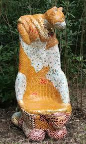 Buy Feline Recline by Francony Kowalski from The Sculpture Park ... - 78_frankony_kowalski_born_france_1959_feline_recline_concrete_steel_ceramic_and_glass_unique_164_cms_high_6_000_-_8_000