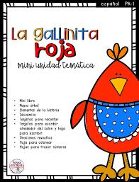 imagenes para colorear y escribir oraciones la gallinita roja mini unidad temática bilingual marketplace