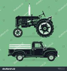 Vintage Ford Truck Advertisements - cool vector old farm retro graphic stock vector 400571485