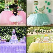 2017 wedding tulle tutu table skirt custom made colors birthdays