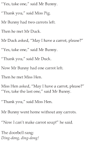 grade 1 reading lesson 13 fables and folktales mr bunnys carrot