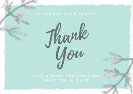 christmas thank you cards christmas thank you card templates canva