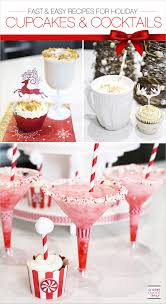 easy to make holiday cupcakes and cocktails recipes soiree event