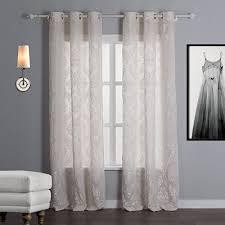 Grommet Top Blackout Curtains Iyuegou Classic Jacquard Floral Beige Velvet Energy Saving Grommet