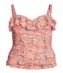 H M Draped Blouse H U0026m Draped Top In Pink Lyst