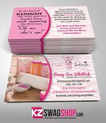 Hit The Floor Facebook - pink zebra business cards style 4 u2013 kz swag shop