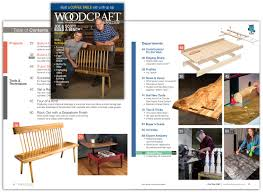 Free Wood Magazine Subscription by Woodcraft Magazine Projects Techniques And Products