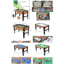 in 1 game table soccer pool tennis air hockey basketball