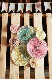 Wedding Backdrop Ideas Vintage Diy Pinwheel Rosettes On Pallet Backdrop For Head Table As Rustic