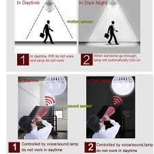 motion sensor light not working pir motion sensor bulb e27 l sound light control e27 infrared