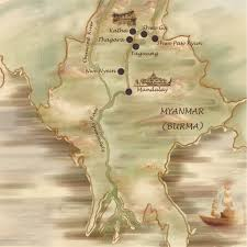 Irrawaddy River Map Upper Ayeyarwady 8 Days Exotic Myanmar Travels U0026 Tours Company