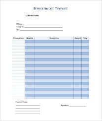 service invoice template example in word doc invoice template