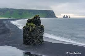 Volcanic Sand Sea Stack Dyrholaey And Reynisdrangur South Iceland Jens
