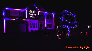 Outside Halloween Lights by Halloween Light Show 2015 Uma Thurman By Fall Out Boy Youtube
