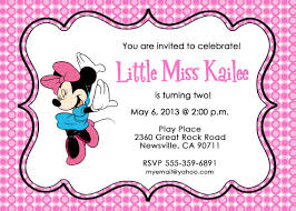 free minnie mouse birthday invitations printable template drevio