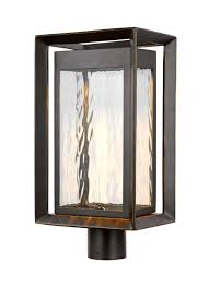 Outdoor Post Light Fixtures by Ol13707anbz Led 1 Light Outdoor Led Post Lantern Antique Bronze