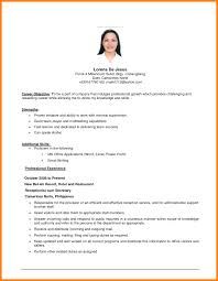 simple resumes exles receptionist skills toreto co resume no experience objective exles
