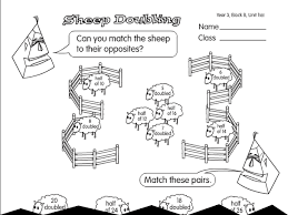 counting sheep a year 3 doubling u0026 halving worksheet