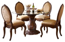 Dining Room Tables Set Lavelle Melange 5 Piece Round Glass Top Dining Table Set