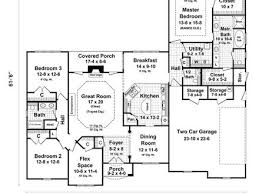 4 bedroom ranch style house plans gallery for ranch style floor plans with basement 4 bedroom ranch