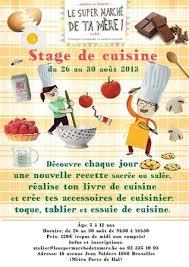stage de cuisine stage de cuisine pour les 5 à 12 ans du 26 au 30 août atelier