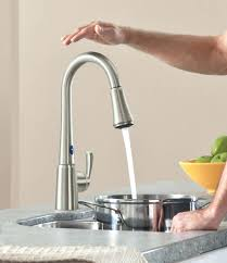 Kitchen Faucet Brass Kitchen Faucets The Unfinished Concrete Backdrop Elevates Appeal
