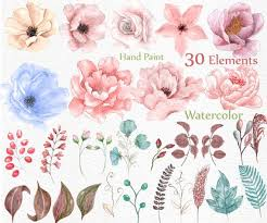 wedding flowers clipart watercolor floral clipart wedding flowers wedding от lecoqdesign