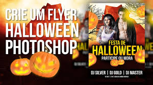 create a halloween flyer with photoshop youtube