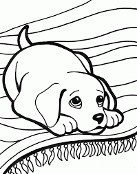 coloring pages of cute dogs coloring page for kids