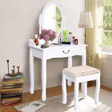 make up dressers goplus 2017 new makeup dressing table vanity and stool set white