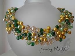 crochet jewelry necklace images Gratis matching earrings crochet wire by jewelry nilo on zibbet jpg