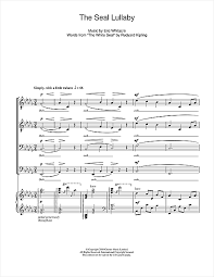 the seal lullaby sheet by eric whitacre ttbb 109192