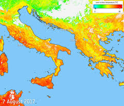 Map Of Mediterranean Europe by Heat Map Of Sweltering Southern Europe